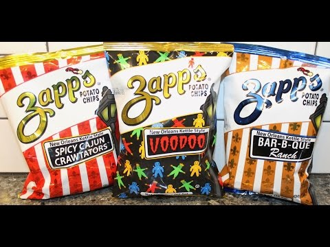 Zapp's Potato Chips: Spicy Cajun Crawtators, Voodoo and Bar-B-Que Ranch Review