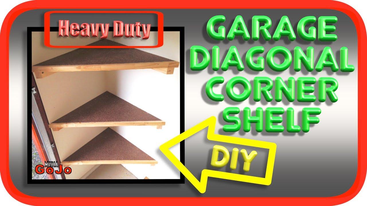 Diagonal Floating Corner Shelves