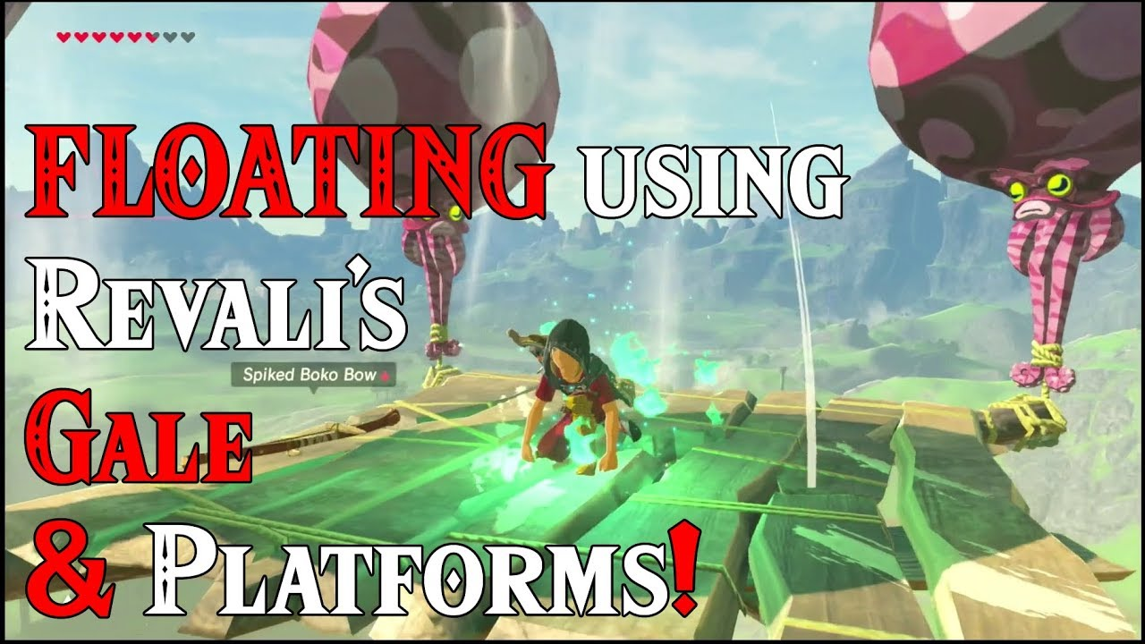 Floating Using Revali S Gale Platforms Wow In Zelda Breath Of