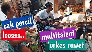 #cakpercil losss...gonta-ganti alat musik orkese ajuurr...