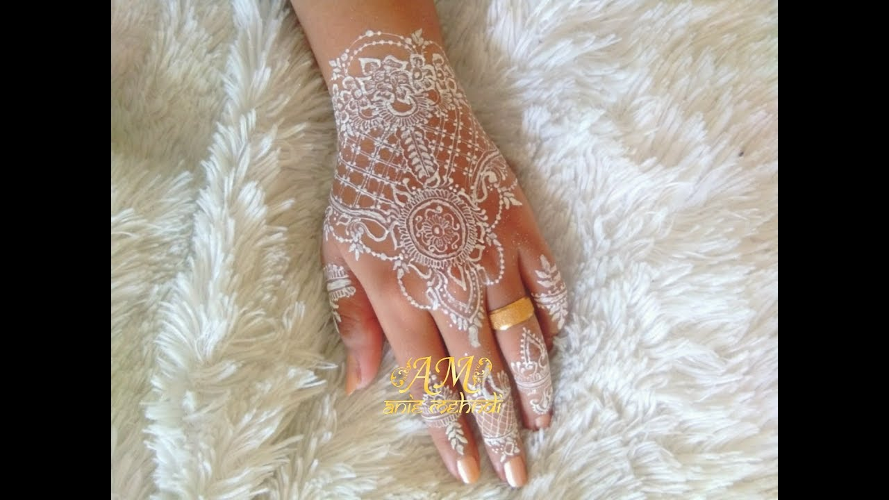 White Henna Design For Wedding Henna Design 85 Youtube