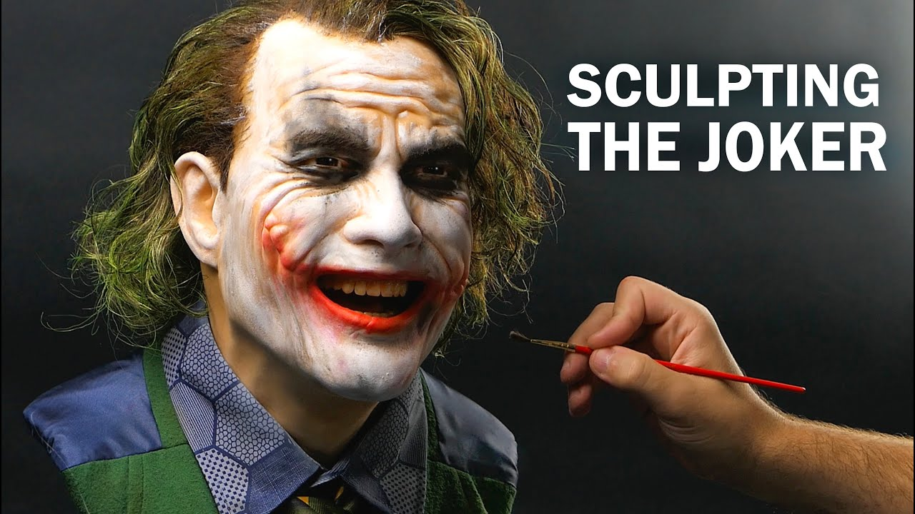 The Joker Sculpture Timelapse - The Dark Knight