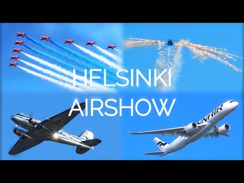 HELSINKI AIR SHOW | Finland 100 Anniversary Air Show in Kaivopuisto | A350, Red Arrows, DC-3...