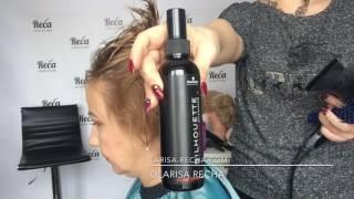 как сделать укладку на короткие волосы феном