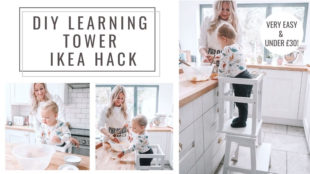 Diy Learning Tower Ikea Bekvam Odvar Hack Oh Hi Diy