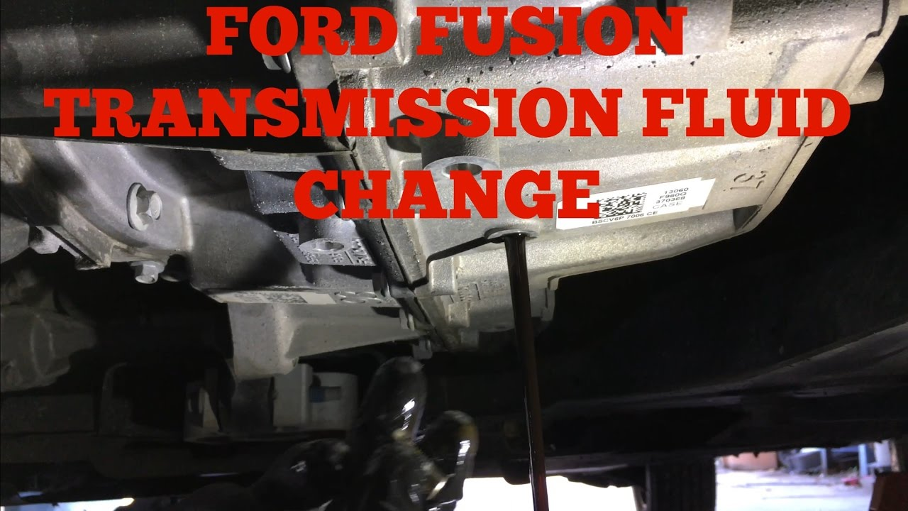 Ford Fusion & Escape 6F35 Transmission Fluid Change
