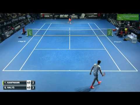 Yannick Hanfmann vs Quentin Halys - Challenger Bergamo 2017
