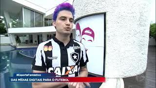 Comediante Felipe Neto vira patrocinador do Botafogo