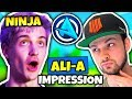 NINJA DOES ALI-A IMPRESSION   Fortnite Daily Funny Moments Ep.78