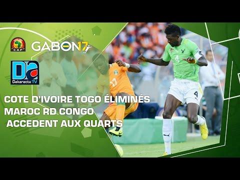 Cote d'Ivoire Togo éliminés, Maroc RD Congo accedent aux quarts