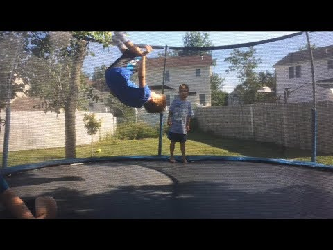Epic trampoline flips (Dan's first backflip!)