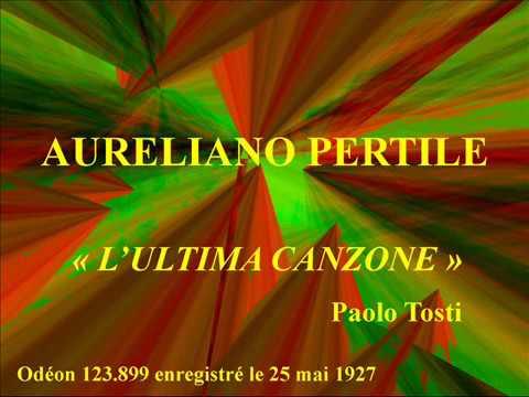 Aureliano Pertile   L'ultima canzone   Paolo Tosti   Odéon 123 899 enregistré le 25 mai 1927