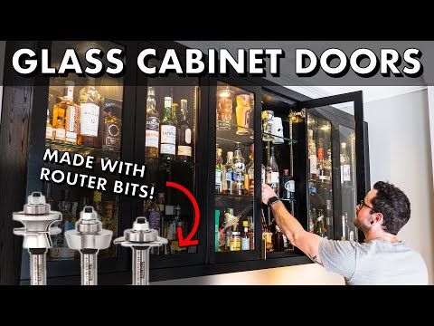 How To Make Glass Cabinet Doors with Router Bits // Home Bar Pt. 3