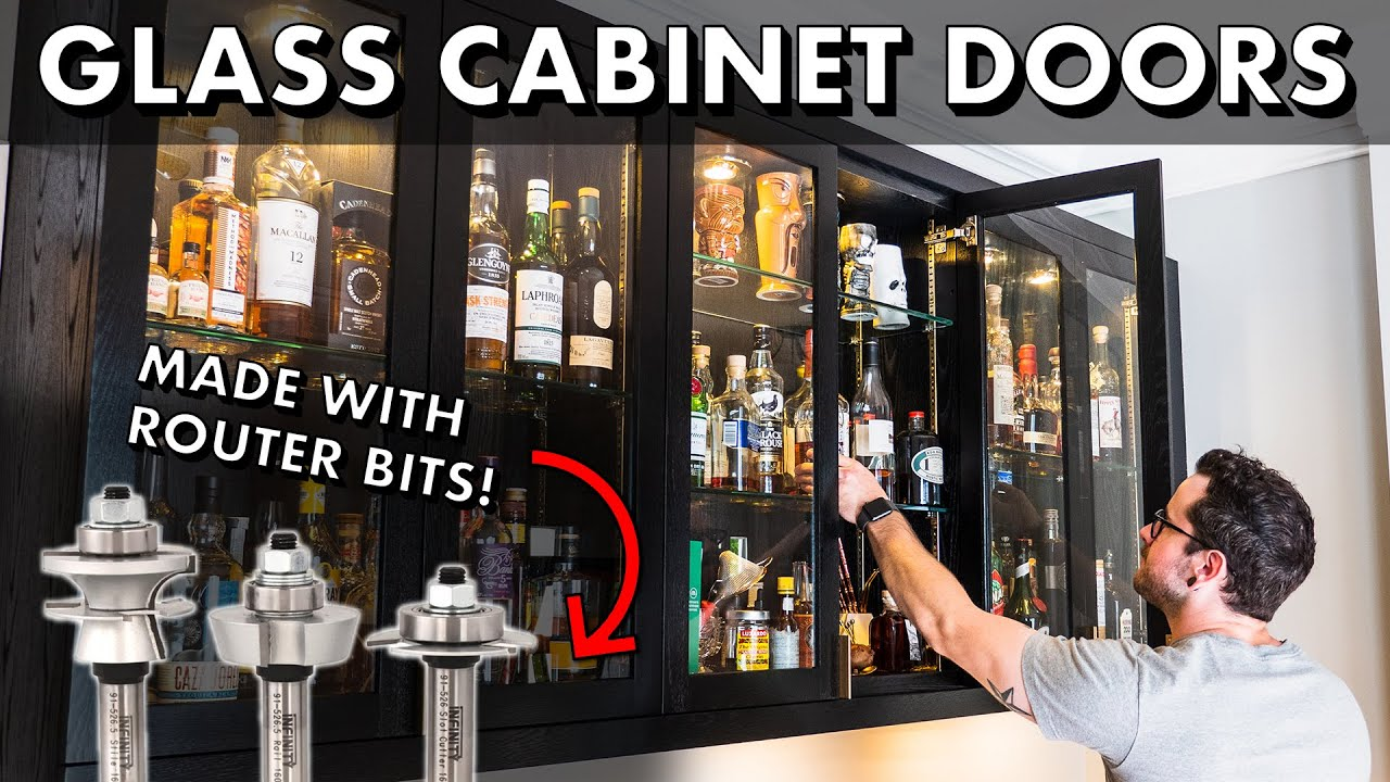 How To Make Glass Cabinet Doors With Router Bits Home Bar Pt 3 Youtube
