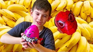 Funny Kids & Funny Monkey Johny Johny Yes Papa Song Nursery Rhymes & Learn Colors for Children