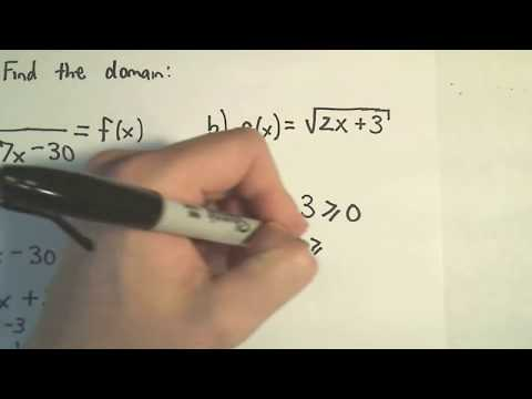 ❖ Finding the Domain of a Function Algebraically (No graph!)