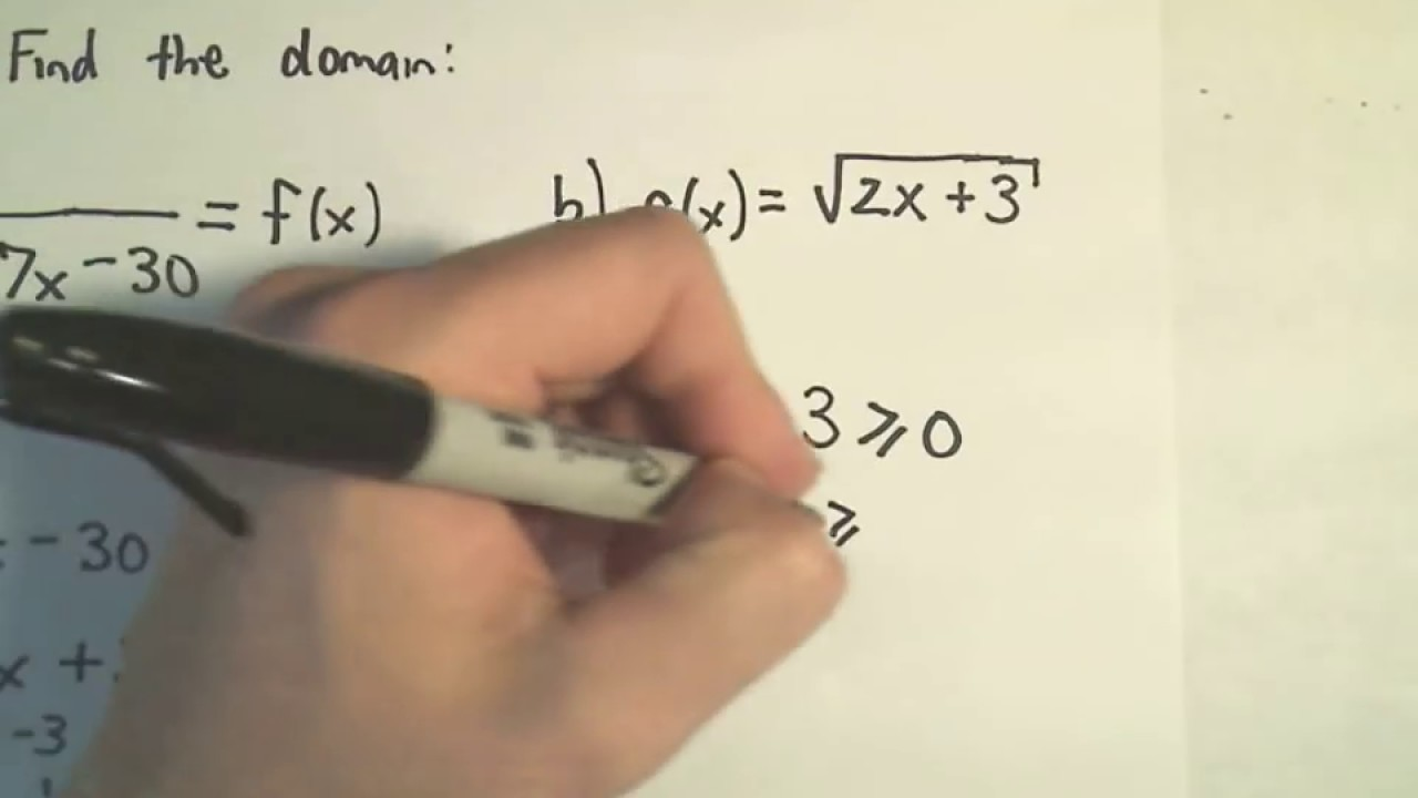 ❖ Finding the Domain of a Function Algebraically (No graph ...