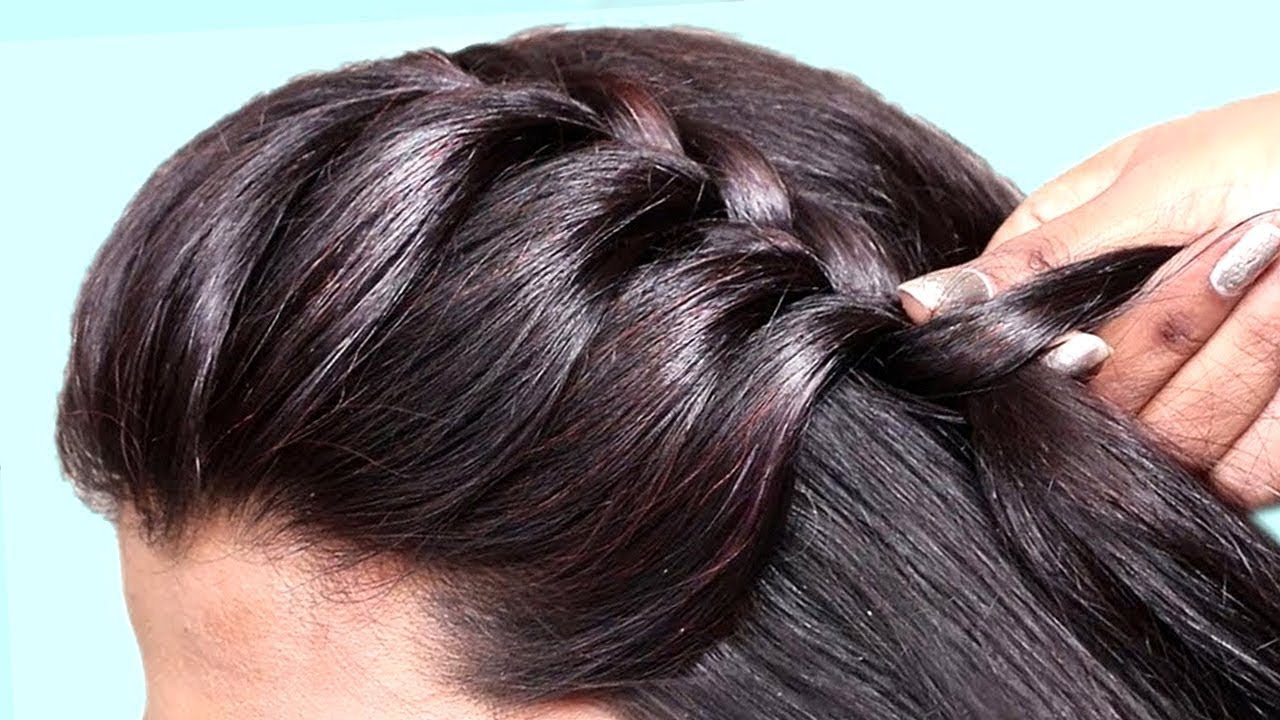 easy side braid hairstyle with back bun || party hairstyle || hairstyle || bun || back bun hairstyle