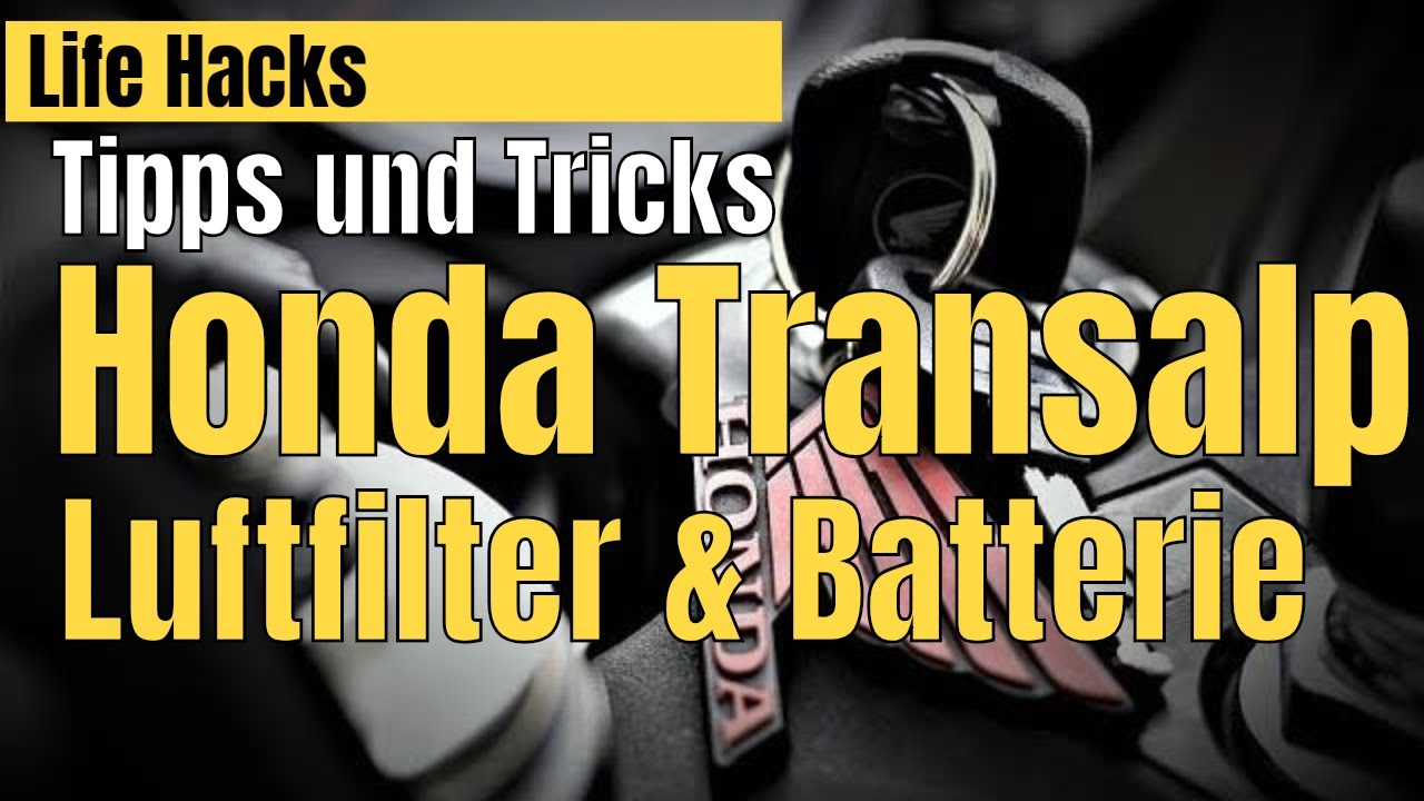 Honda Transalp Tipps Tricks Luftfilter Batterie Youtube