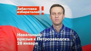 Петрозаводск: акция в поддержку забастовки избирателей 28 января в 16:00