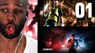 inFamous 2 Gameplay Walkthrough Part 1 - THE BEGINNING (Lets Play / Playthrough)