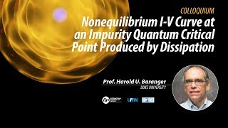 Nonequilibrium I-V Curve at an Impurity Quantum Critical Point Produced by Dissipation - Harold U. B thumbnail
