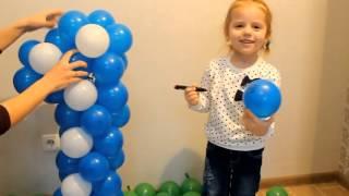 как сделать единичку из шаров