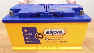 Автомобильный аккумулятор АКОМ EFB 100R: обзор аккумулятора