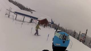 GoProHD: Whistler, BC Buttering the gnar snowboarding