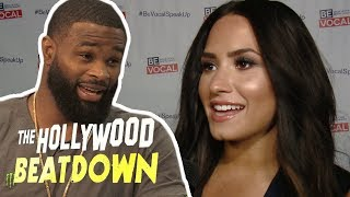Tyron Woodley Says Demi Lovato Could Take On A Real MMA Fighter | The Hollywood Beatdown
