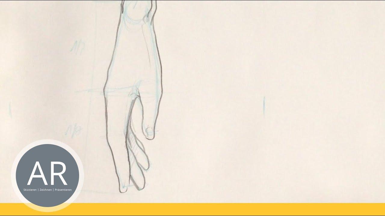 Hande Zeichnen Tutorial Hand Am Korper Anliegend Youtube
