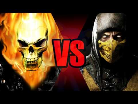 Scorpion (MKX) vs Ghost Rider (Comics) - YouTube