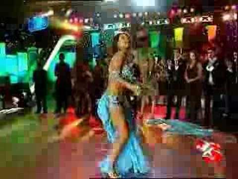 Hot turkish belly dancer in blue! (nouran Sultan)