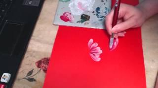 видео китайская роспись плоской кистью