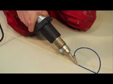 How To Heat Welding Vinyl Floor With Heat Gun Hot Air Gun