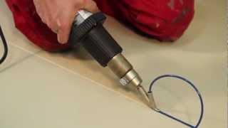 How to: Heat Welding Vinyl Floor with Heat Gun,Hot Air Gun