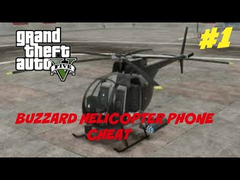 GTA 5 HOW TO SPAWN BUZZARD HELICOPTER