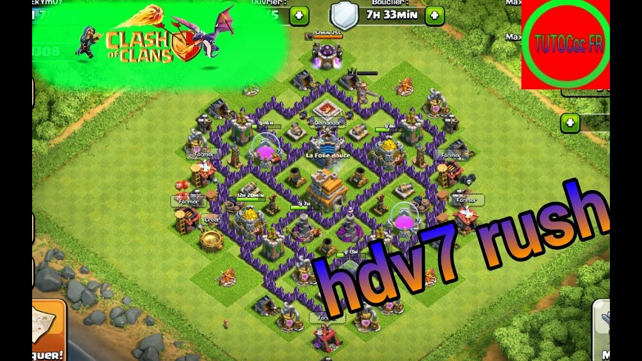 Clash of clans hdv 7 village parfait