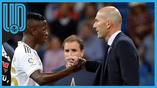 Zinedine Zidane restó importancia a las palabras de Karim Benzema a Ferland Mendy en el descanso del partido ante el Borussia Mönchengladbach