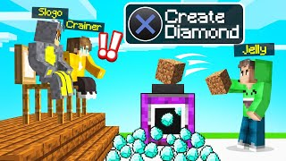 I INVENTED A DIAMOND SPAWNER And SOLD IT To MY FRIENDS! (Minecraft)