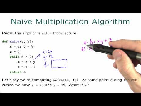 Naive Multiplication Algorithm Solution - Intro to Algorithms