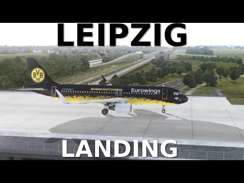 [FSX] Leipzig FULL Approach/Landing/Taxi (Addons & PC Specs in the Description!) |