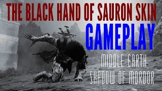 Shadow Of Mordor - The Black Hand Of Sauron Skin Gameplay DLC PS4