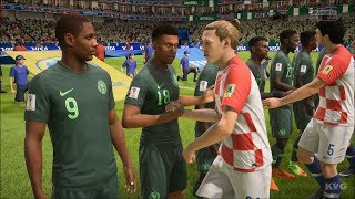 2018 FIFA World Cup Russia - Croatia vs Nigeria - Gameplay (HD) [1080p60FPS]