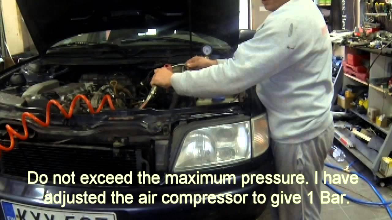 Audi A6 radiator leak