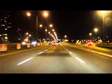 Marie Victorin Expressway (Autoroute 20/QC 132 Exits 90 to 75) westbound (Night)