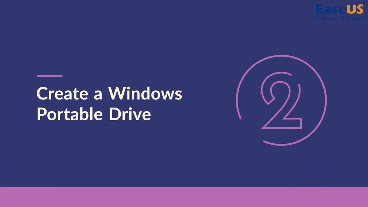 3 Steps to Create Portable Windows 10/8/7 to USB Drive – EaseUS