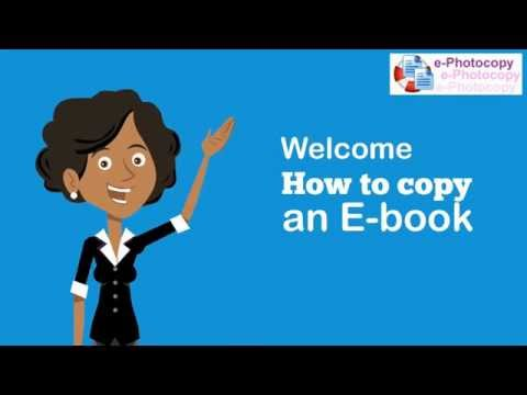 Copy an ebook - how to print an ebook - how to convert ebook to pdf