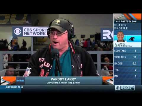Jim Rome caller Parody Larry sings a song from radio row on CBS Sports Network