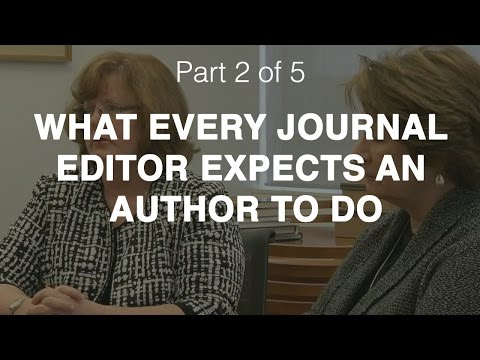 What every journal editor expects an author to do